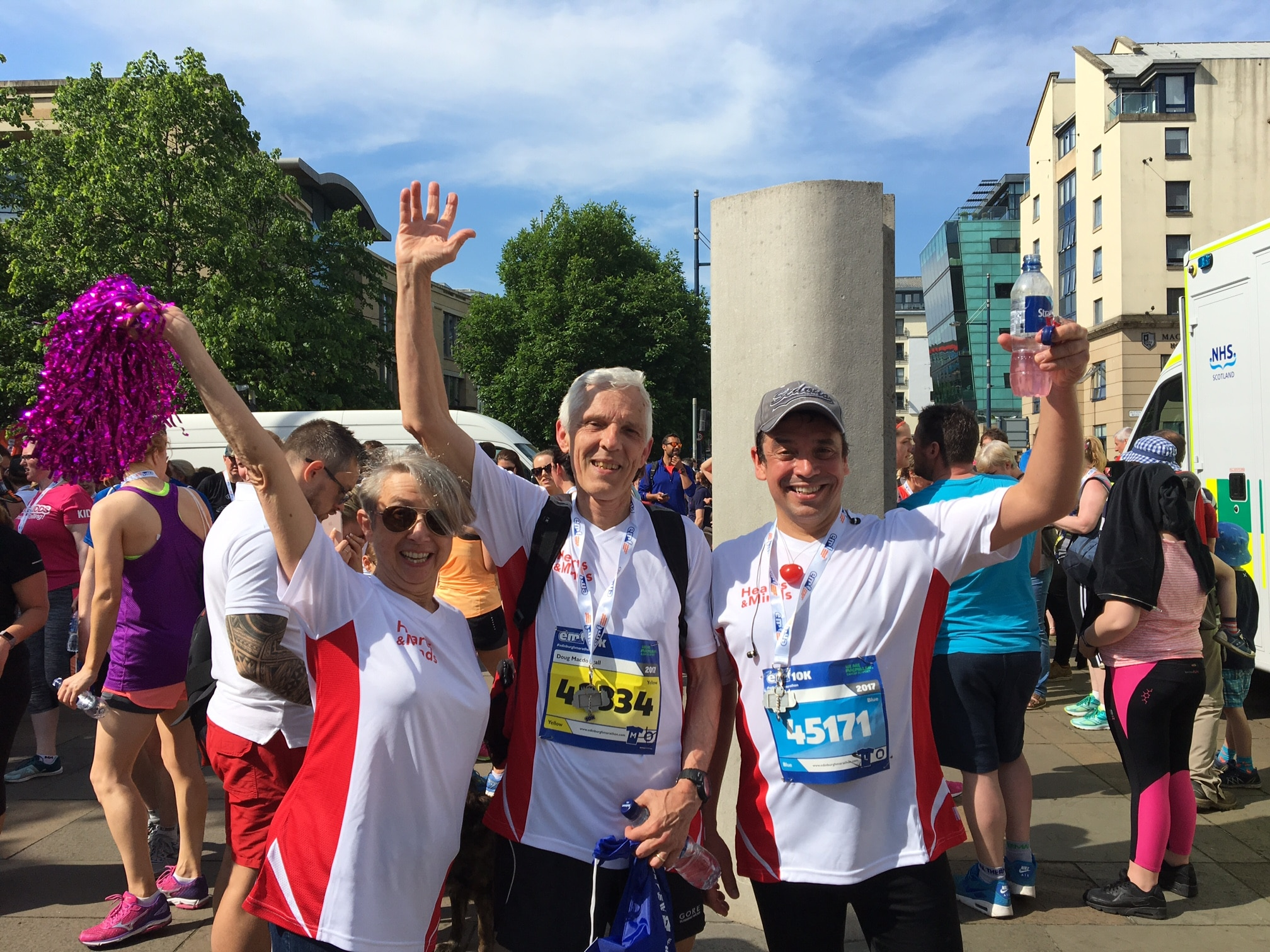 Participants in the Edinburgh 10k Run