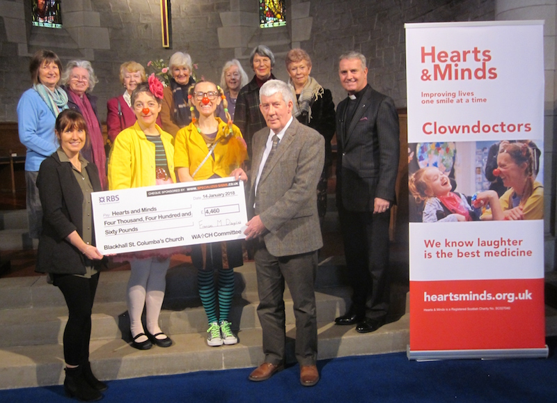 St Columba's cheque presentation 2018